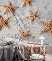 Starfish Chart Starfish And Old Map Wall Mural Nature Wall Murals Wall