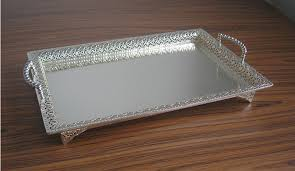 Decorative Metal Serving Trays 100100x100100 large rectangle silver plated alloy metal serving tray 2