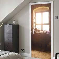 3d Tür Aufkleber Renoviert Alte Fensterbank Selbstklebende Klappe