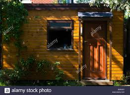 office garden shed. Uk England Surrey Garden Shed Office - Stock Image G