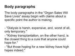 argument sample essay organ s slideshow 7