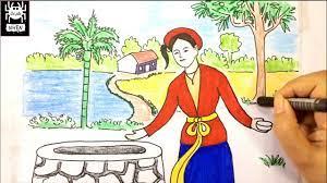 Vẽ tranh đề tài - minh họa truyện cổ tích - Tấm Cám - Trang chia sẻ các  thông tin về học tập hữu ích nhất - Sàn Ô Tô Việt Nam