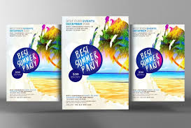Beach Flyer 20 Beach Party Flyer Template Psd Ai And Indesign Format Graphic