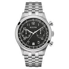 bulova men s black dial stainless steel bracelet watch h samuel bulova men s black dial stainless steel bracelet watch product number 3883752
