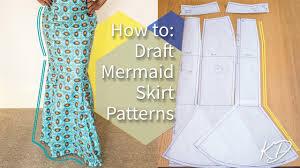 Mermaid Skirt Pattern Mesmerizing HOW TO DRAFT MERMAID SKIRT PATTERNS KIM DAVE YouTube
