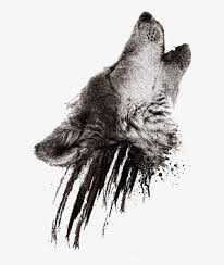 Realistic Wolf Designs Realistic Howling Wolf Head On Black Smudges Tattoo Wolf