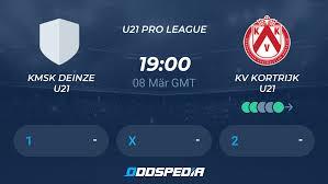 KMSK Deinze U21 - KV Kortrijk U21 » Live Stream & Ticker + Quoten,  Statistiken, News
