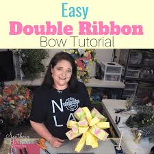 how to make a double ribbon bow using the ez bow maker