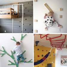 build your own indoor climbing area for kids lots of great ideas