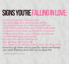 Signs Your Falling In Love Picture On VisualizeUs Cool You Know You Re In Love When Quotes