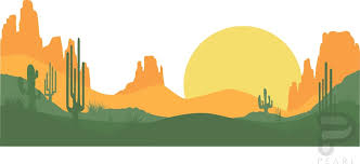 desert mountain wall decal l and