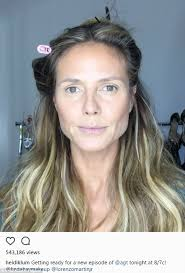 getting ready a lot of work goes into preparing heidi klum for an