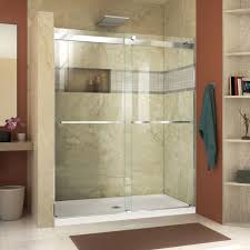 dreamline essence 60 x 76 bypass semi frameless shower door with within magnificent how
