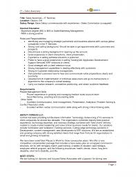 Resume Retail Sales 2 Associate Duties Research Description