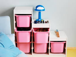 Ikea Toy Organizer Ideas Ikea Toy Storage In Pink And White For Kids Room