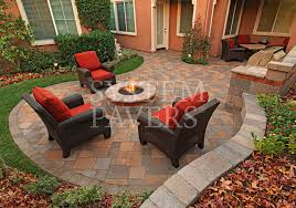 patio with fire pit. Backyard Pavers Firepit Design Ideas Patio With Fire Pit