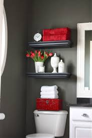 Accent Wall Bathroom Black And White Paintings With Red Accents Flixfocus