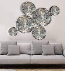 aluminium decorative in silver wall art