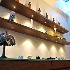 led glass shelf lighting floating shelves with lights acrylic uk