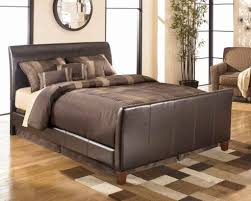 upholstered leather sleigh bed. Leather Sleigh Bed Queen Upholstered L