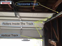 rollers inside garage door track