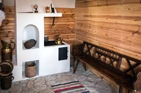 wood wall fireplace bench village floor tile stone pallet around