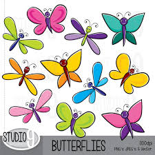 spring butterfly clipart. Exellent Spring Illustrations Butterfly Clip Art Instant Download Cute Throughout Spring Butterfly Clipart T