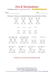 Letter X Tracing Pages Worksheets for all | Download and Share ...