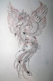 Seher One Art Design птица феникс татуировка феникс