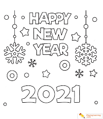 A new year's resolution is a promise that you make to yourself to start doing something good or stop doing something bad on the first day of the year. Happy New Year 2021 Coloring Page 02 Free Happy New Year Coloring Page