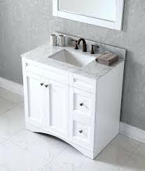 single sink white bathroom vanity. 36 single sink bathroom vanity square in white with marble stone