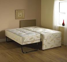 windsor white 3 in 1 guest bed pull out trundle with mattresses 2