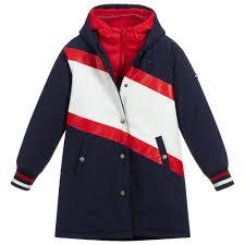 Tommy Hilfiger Skirt Size Chart Girls 2 In 1 Coat Jacket