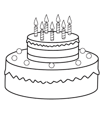 Small Picture Birthday Cake Coloring Pages Preschool Coloring Me