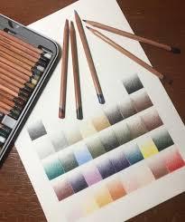 Derwent Procolour Lightfast Chart Derwent Lightfast Pencils Hand Done Color Chart Love These