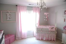 Bedroom, : Extraordinary Chrome Chandeliers And Pink Baby Bedding ...