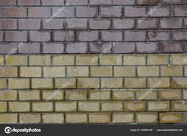 old brick wall texture background white yellow brown brick wall stock photo