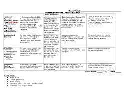Compare Contrast Essay Rubric Compare And Contrast Essay Rubric