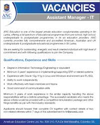 assistant manager skills it assistant manager