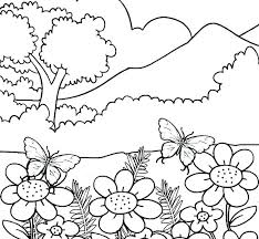 Nature Coloring Pages Free Printable For Preschoolers Mosshippohaven