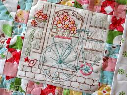 151 best Jenny of Elefantz Embroidery and Quilting images on ... & Full pdf Daisy Days quilt pattern with 8 stitcheries and 10 patchwork  blocks with borders is Adamdwight.com