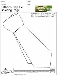Small Picture Fathers Day Tie Coloring Page