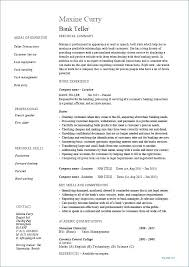 Bank Teller Experience Resume Best Resume Objective Bank Teller Free Resume Template Evacassidyme
