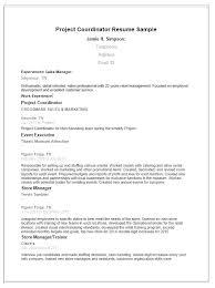 Assistant Program Coordinator Sample Resume Enuri Co