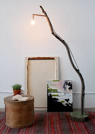 How To Make A DIY Tree Branch Floor Lamp Curbly wood tree branch floor lamp