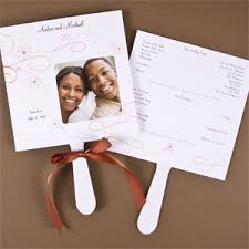 Wedding Program Fans Cheap Photo Wedding Program Fans 25 Pcs Wedding Programs Stationery