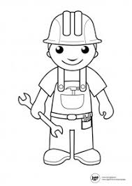 Small Picture Community helpers coloring pages for preschool kindergarten and