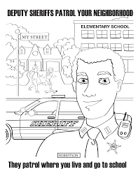 Leo Sheriff Deputies Are Your Friends Coloring Book Mcgruff