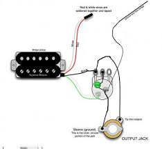 wiring humbucker with no volume pot? fender stratocaster guitar one single coil pickup wiring diagram at 1 Humbucker 1 Volume 1 Tone Wiring Diagram