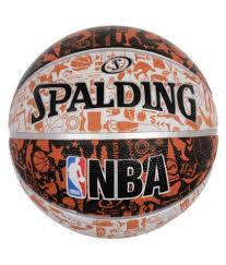 spalding 7 leather basketball ball at best on snapdeal